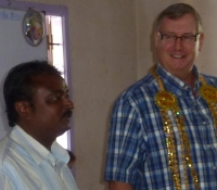 Steve with Pastor Shine Thomas