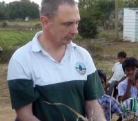 David with Pastor Shine Thomas Teaching Farmers