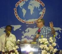 Preaching in Chennai.